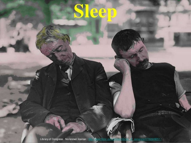 Sleep Library of Congress. No known license:: http://www.flickr.com/photos/library_of_congress/2162949251 /