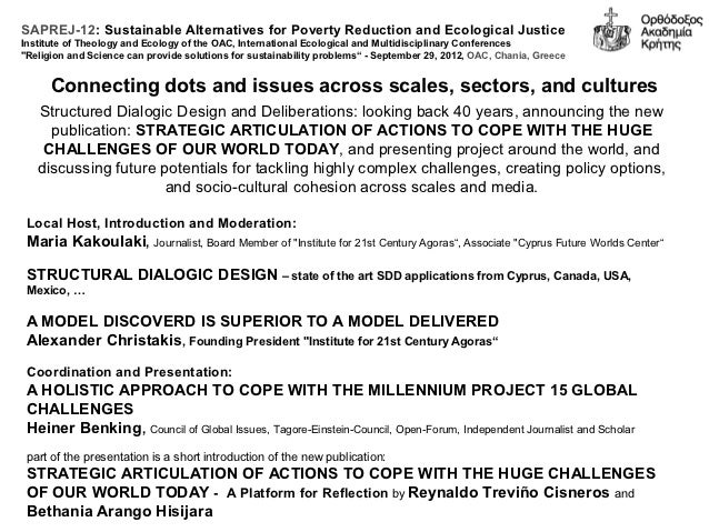 SAPREJ-12: Sustainable Alternatives for Poverty Reduction and Ecological JusticeInstitute of Theology and Ecology of the O...