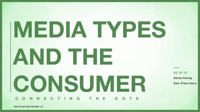 MEDIA TYPESAND THECONSUMER                                                                                 02. 12.12      ...
