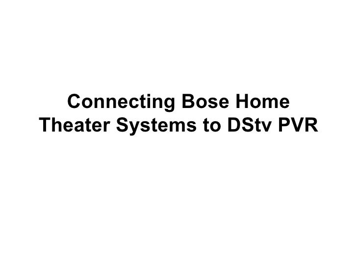 how to connect home theater system to tv