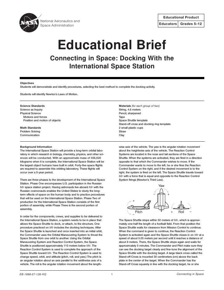 Educational Product                 National Aeronautics and                 Space Administration                         ...