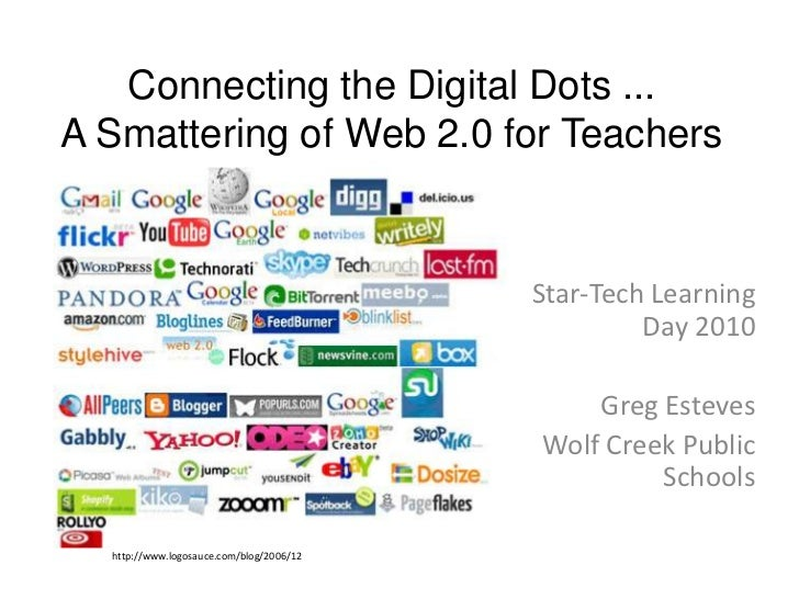 Connecting the Digital Dots ... A Smattering of Web 2.0 for Teachers <br />Star-Tech Learning Day 2010<br />Greg Esteves<b...