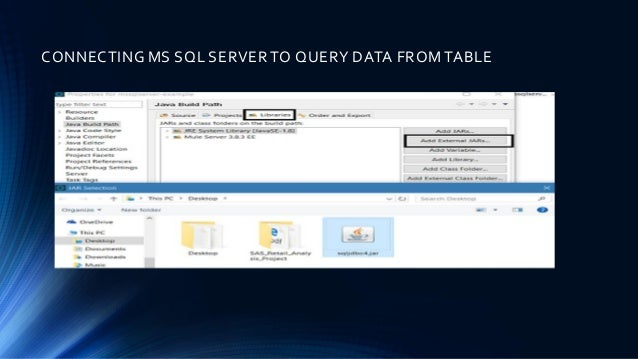 Connecting To MS SQL Server With Mulesoft (Query Database)