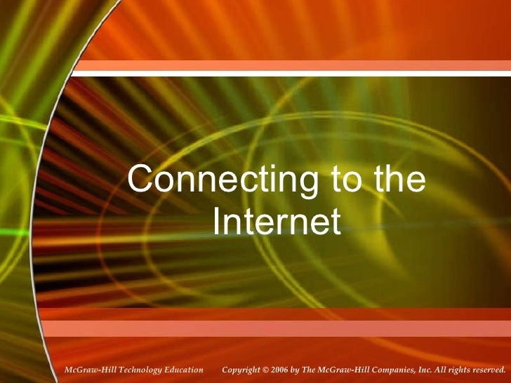 Connecting to the Internet