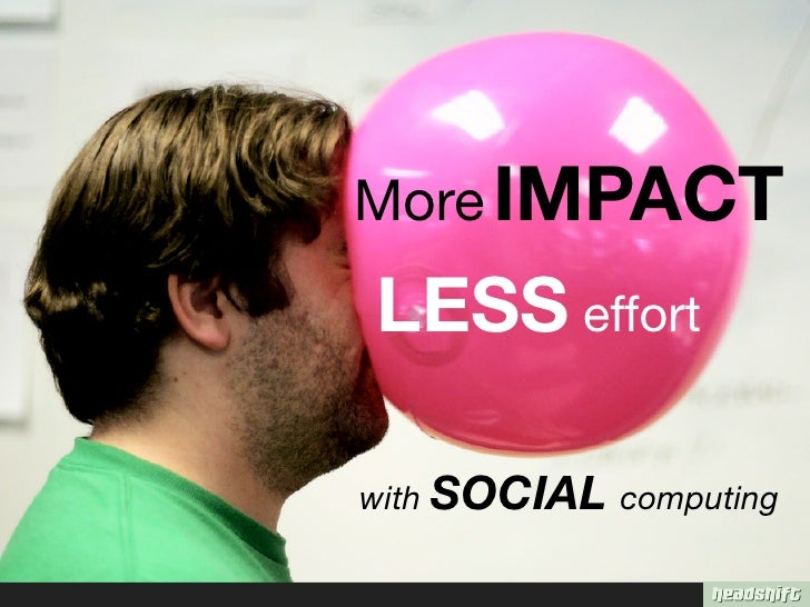 More IMPACT LESS effort  with SOCIAL computing