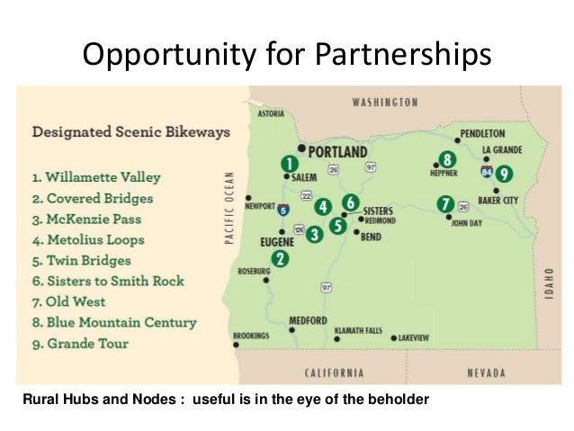 Opportunity for PartnershipsRural Hubs and Nodes : useful is in the eye of the beholder