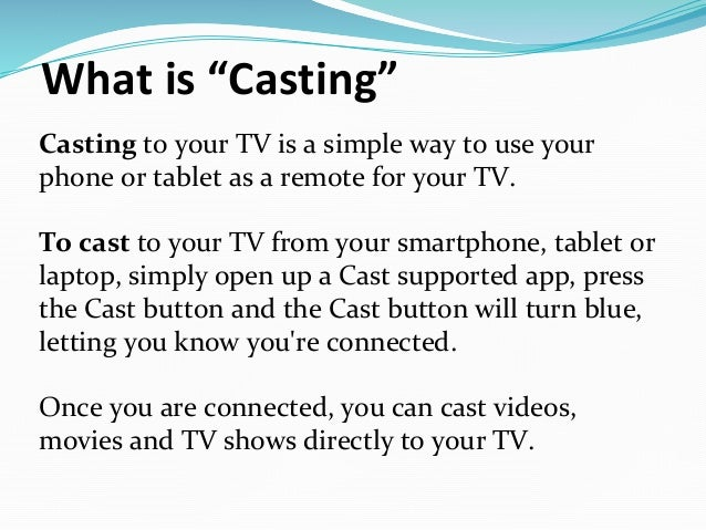 Connecting your tv to the internet chromecast