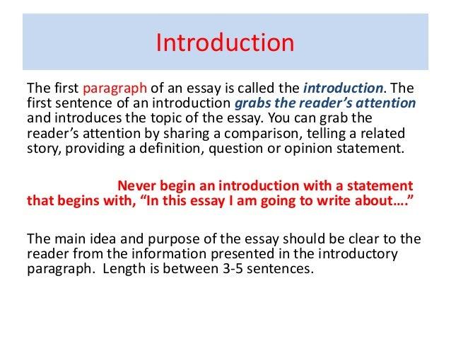 Opening essay sentences