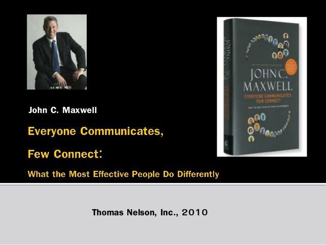 John C. Maxwell  Thomas Nelson, Inc., 2010