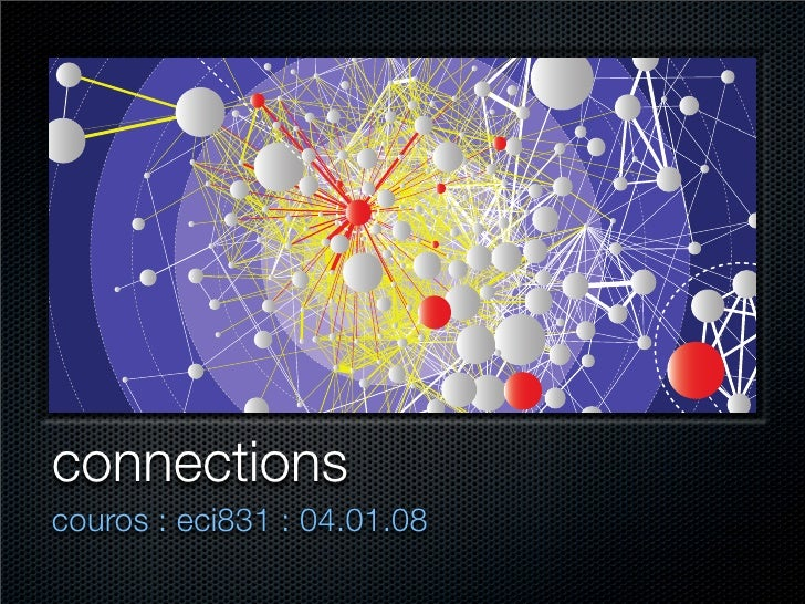 connections couros : eci831 : 04.01.08