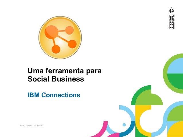 ©2012 IBM CorporationUma ferramenta paraSocial BusinessIBM Connections