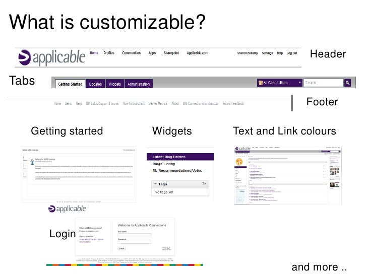 What is customizable?                                              HeaderTabs                                             ...