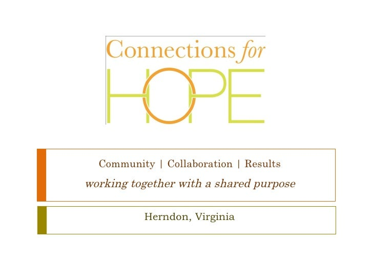 Community | Collaboration | Results   working together with a shared purpose Herndon, Virginia