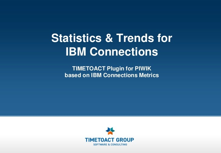 Statistics & Trends for  IBM Connections    TIMETOACT Plugin for PIWIK  based on IBM Connections Metrics