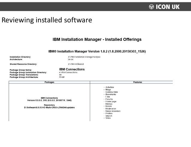 Reviewing  installed  software