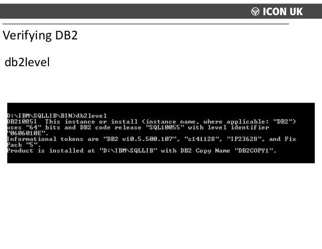 db2level Verifying  DB2