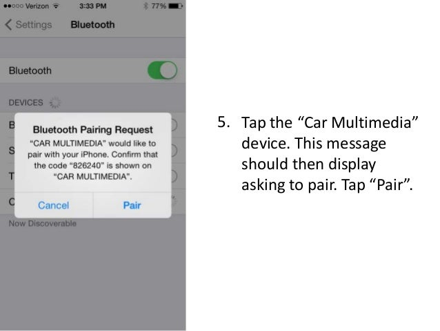how to connect iphone via bluetooth