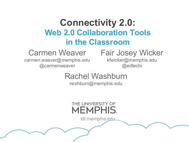 Connectivity 2.0:     Web 2.0 Collaboration Tools         in the Classroom Carmen Weaver     Fair Josey Wickercarmen.weave...