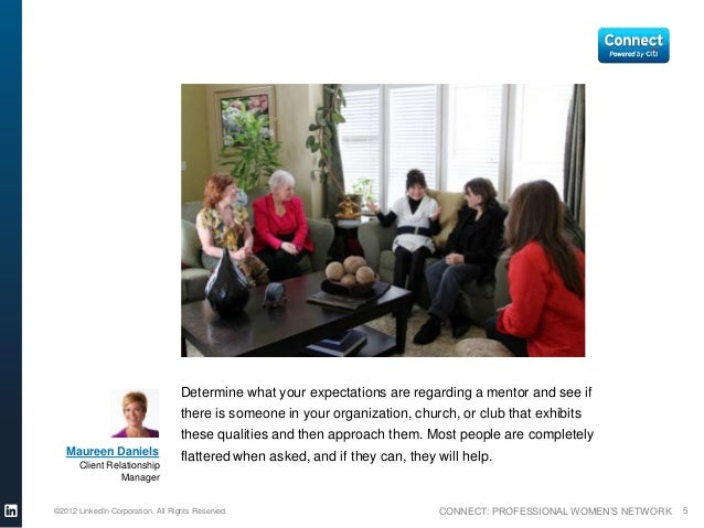 Determine what your expectations are regarding a mentor and see if                                  there is someone in yo...