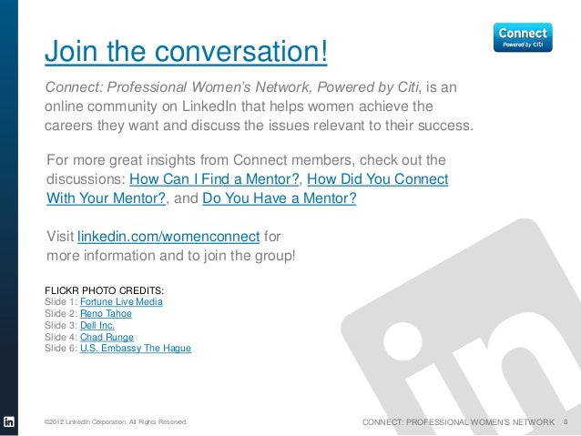 Join the conversation!Connect: Professional Women's Network, Powered by Citi, is anonline community on LinkedIn that helps...
