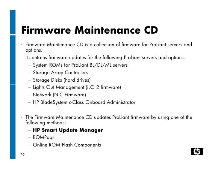 hp proliant firmware maintenance cd 8.50