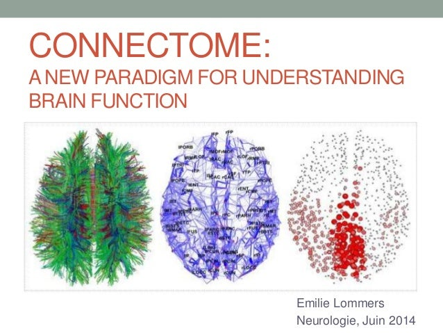 CONNECTOME: A NEW PARADIGM FOR UNDERSTANDING BRAIN FUNCTION Emilie Lommers Neurologie, Juin 2014