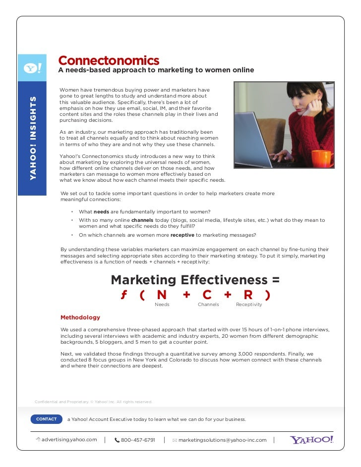Connectonomics                             A needs-based approach to marketing to women online                            ...