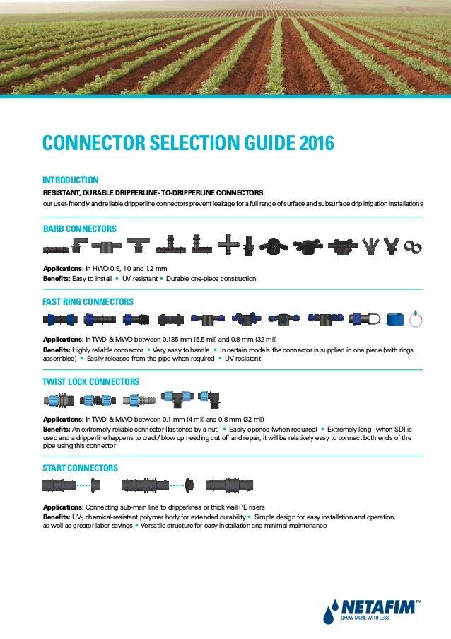 NETAFIM Connector guide