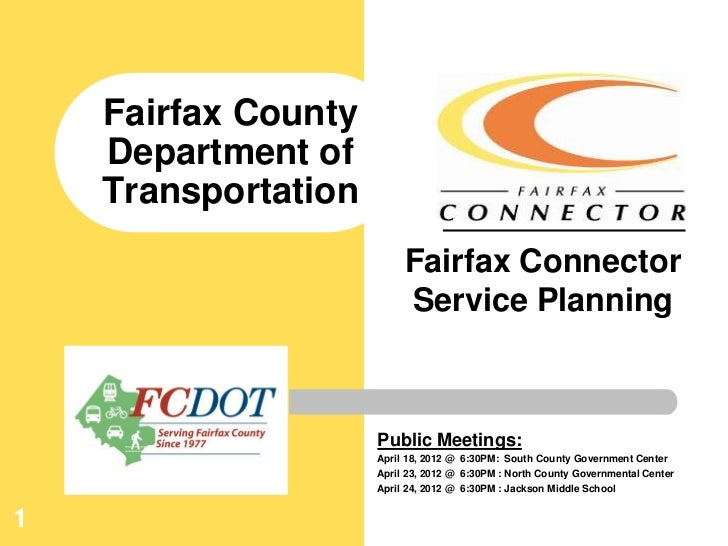 Fairfax County    Department of    Transportation                          Fairfax Connector                          Serv...