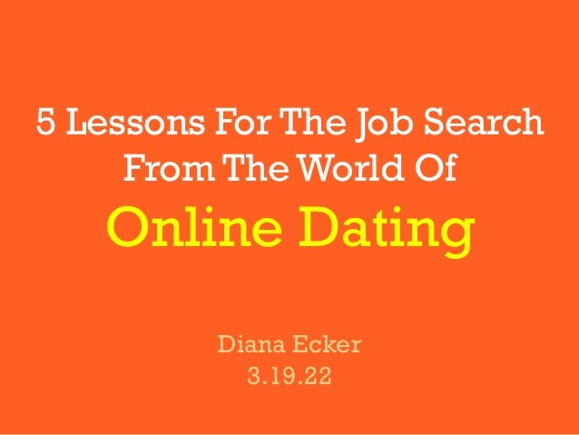 How is job search like dating?