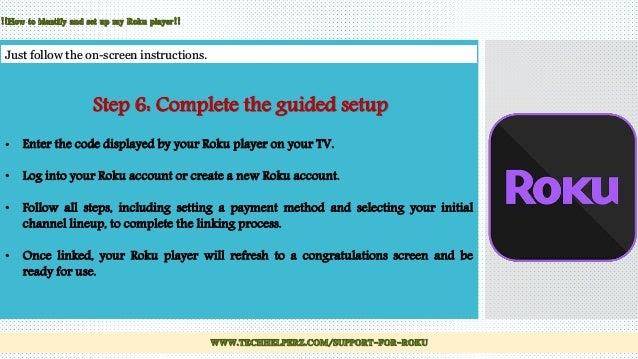 connect roku tv in simple steps roku customer service rh slideshare net Roku Home Screen Set Up Roku Problems