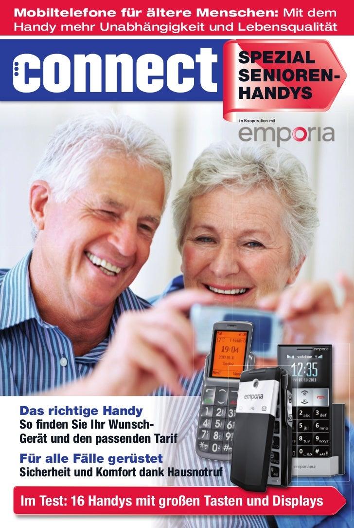 Mobiltelefone für ältere Menschen: Mit demHandy mehr Unabhängigkeit und Lebensqualität                                    ...