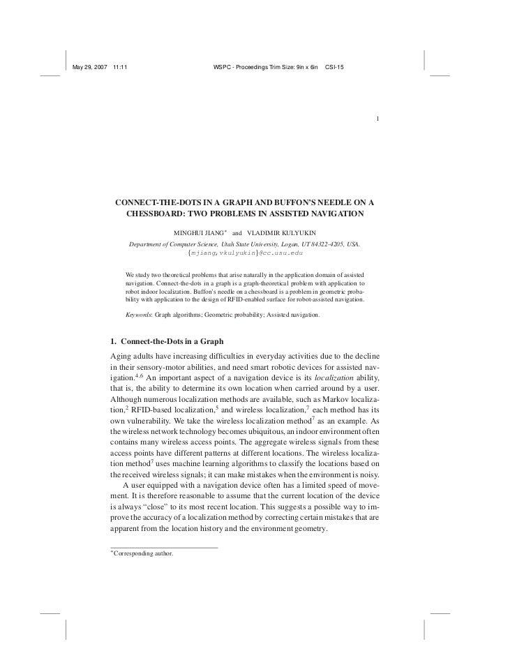 May 29, 2007   11:11                                 WSPC - Proceedings Trim Size: 9in x 6in     CSI-15                   ...