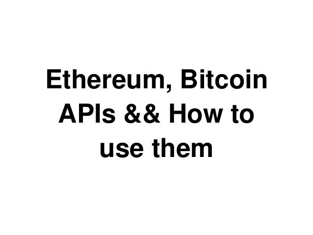 Connect to Bitcoin & Ethereum networks (RPC APIs)