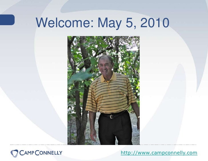 Welcome: May 5, 2010<br />