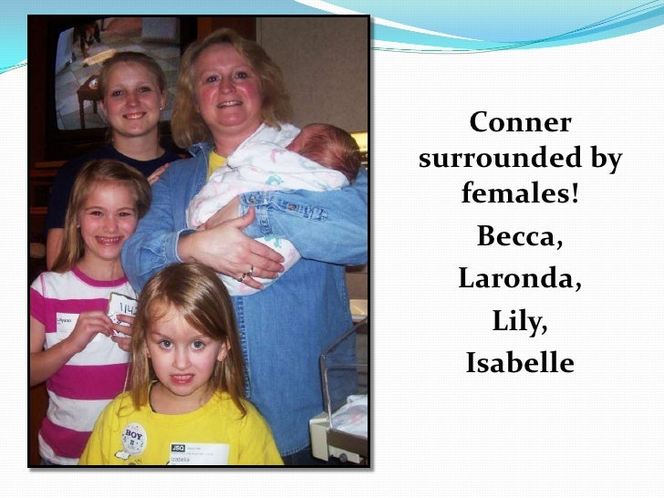 Conner surrounded by females!<br />Becca, <br />Laronda, <br />Lily, <br />Isabelle<br />