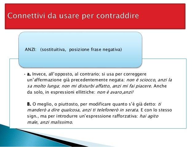 Connettivi per contraddire Slide 3