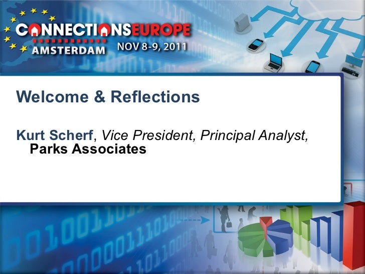 Welcome & ReflectionsKurt Scherf, Vice President, Principal Analyst, Parks Associates