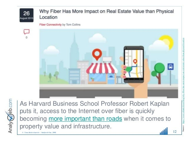 © Tous droits réservés – Analyweb Inc. 2008 12 As Harvard Business School Professor Robert Kaplan puts it, access to the I...