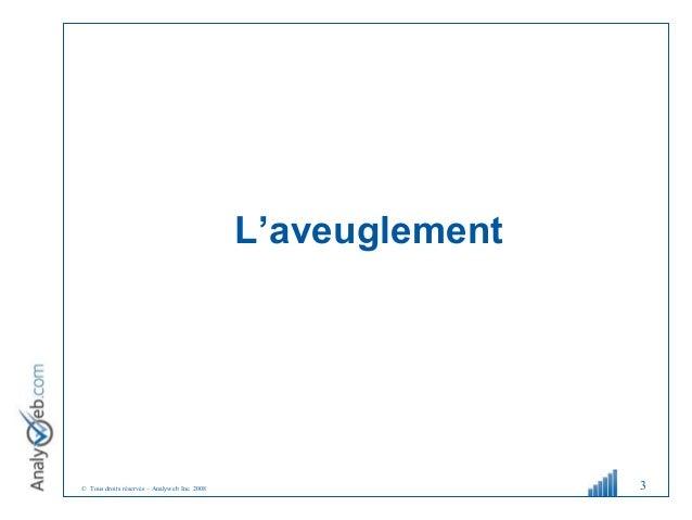 © Tous droits réservés – Analyweb Inc. 2008 L'aveuglement 3