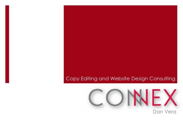 Copy Editing and Website Design Consulting                                 Dan Vera