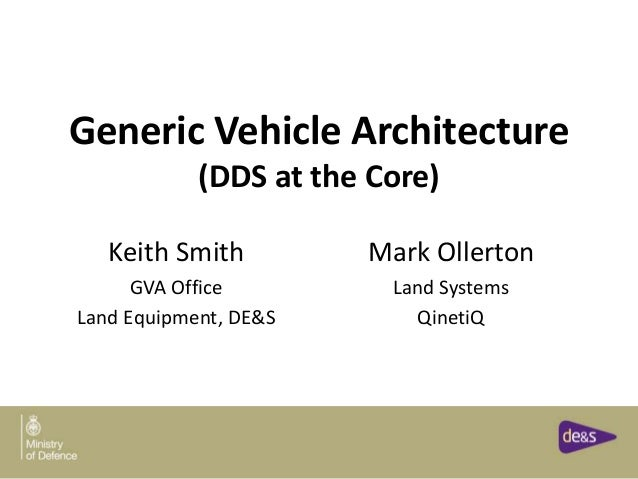 Generic Vehicle Architecture (DDS at the Core) Keith Smith GVA Office Land Equipment, DE&S Mark Ollerton Land Systems Qine...