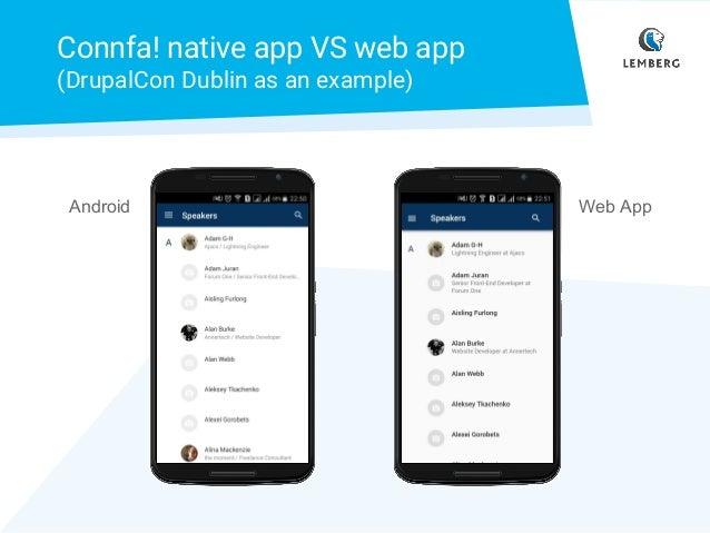 Connfa! Progressive web app