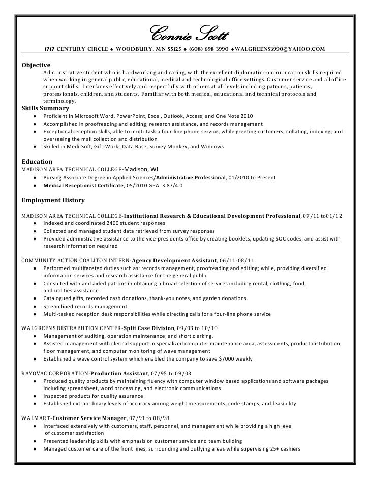Connie scott\'s resume and cover letter 4 15-12