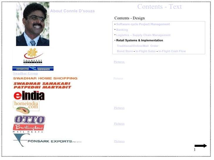 Contents - Text <ul><li>Software cycle Project Management </li></ul><ul><li>Banking </li></ul><ul><li>Logistics – Supply C...