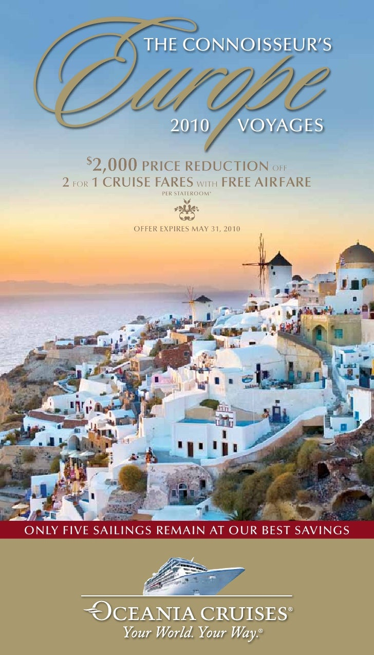 Europe  $                  the connoisseur's                           2010           2,000 Price reduction off           ...