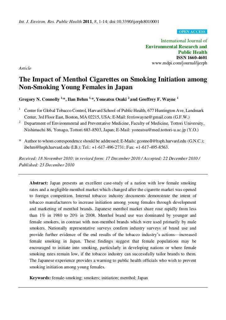 Int. J. Environ. Res. Public Health 2011, 8, 1-14; doi:10.3390/ijerph8010001                                              ...