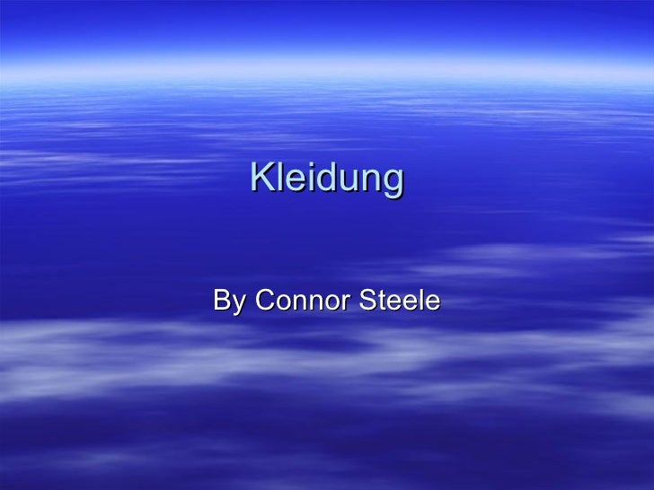 Kleidung By Connor Steele
