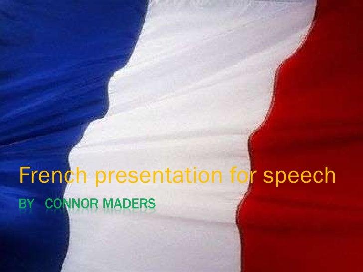 French presentation for speech