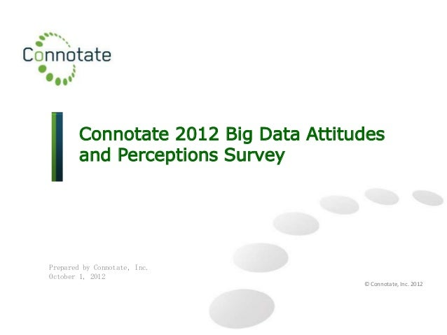 Connotate 2012 Big Data Attitudes        and Perceptions SurveyPrepared by Connotate, Inc.October 1, 2012                 ...